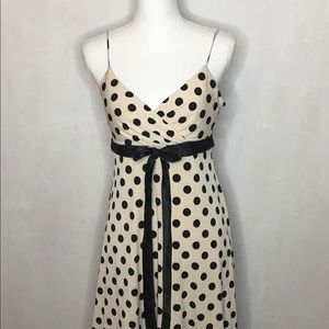 City Triangles Black & Cream Polka Dot Dress